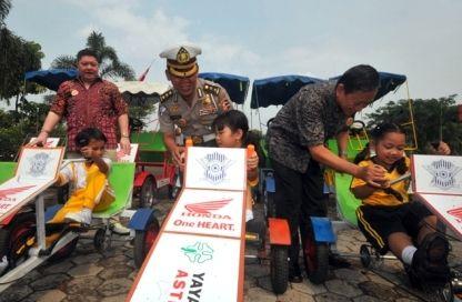 Yayasan AHM dan IATSS Alumni Indonesia Kampanye Road Safety di Usia Dini