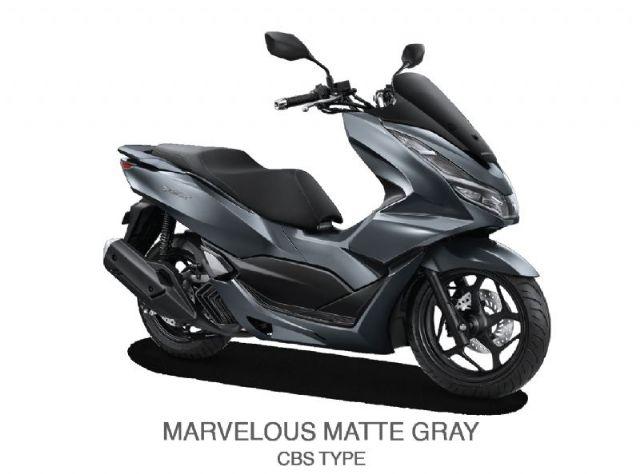 NEW HONDA PCX 160 CBS - MARVELOUS MATTE GRAY